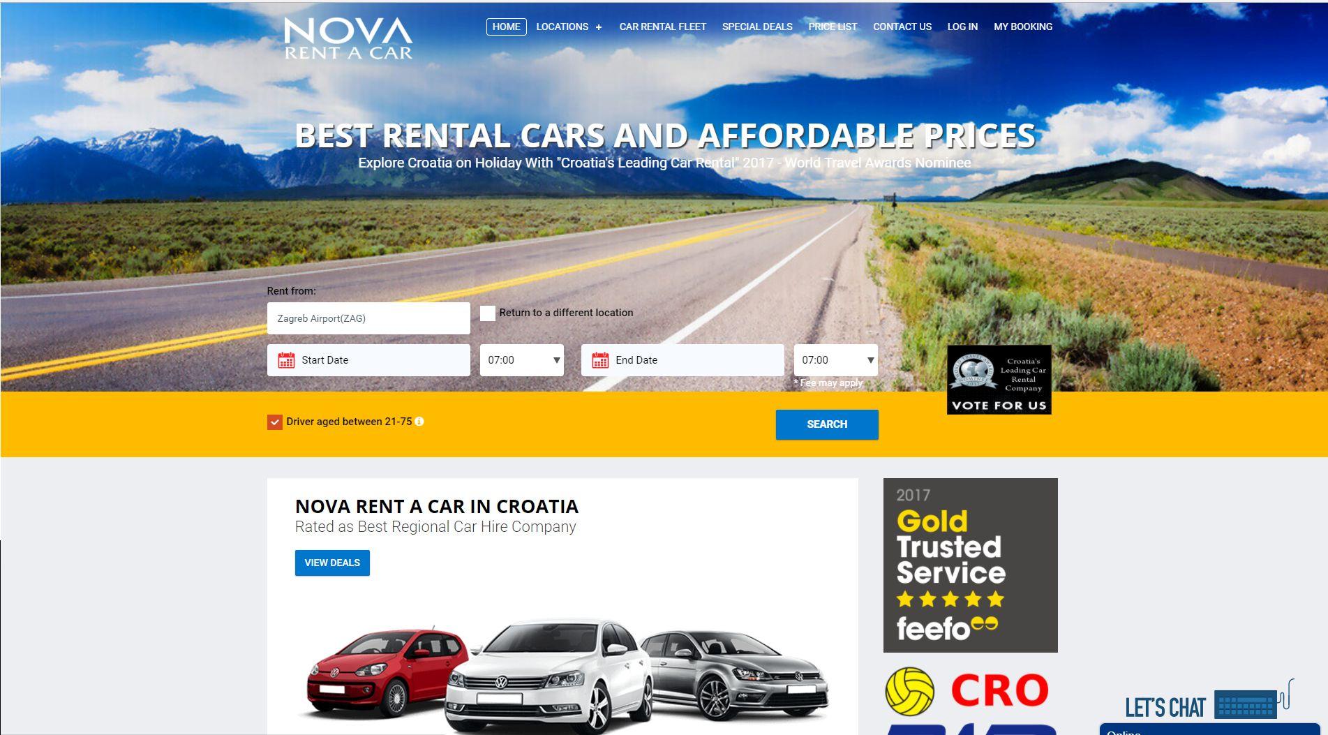 cheap car rental deals in croatia